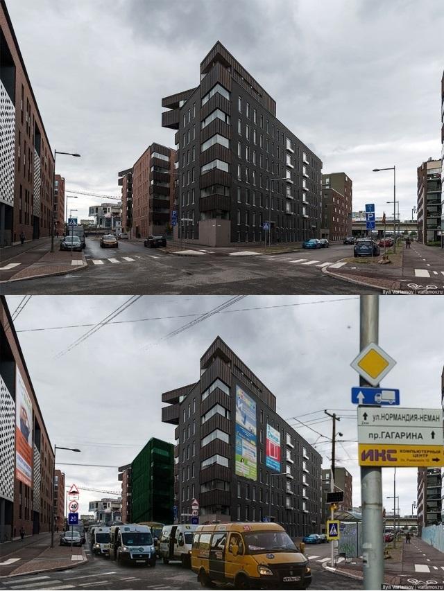 Как бы выглядели города европейских стран, если бы они находись в России