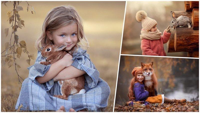 Дети и животные: что может быть на свете прелестнее и умилительнее