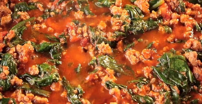начинка со шпинатом