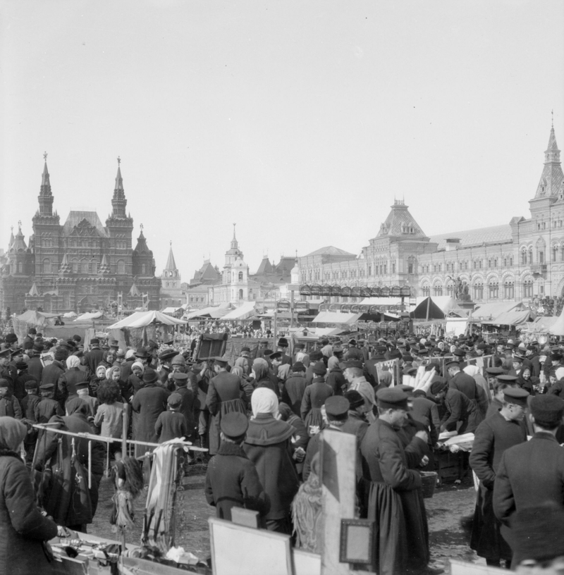Красная площадь в Вербное воскресенье история, ретро, фото