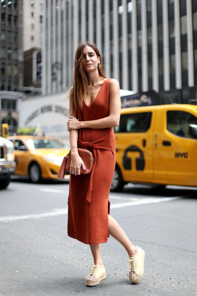 Кирпичное Платье С Чем Носить