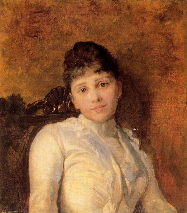 «Портрет молодой дамы». Автор: Н. Ярошенко.