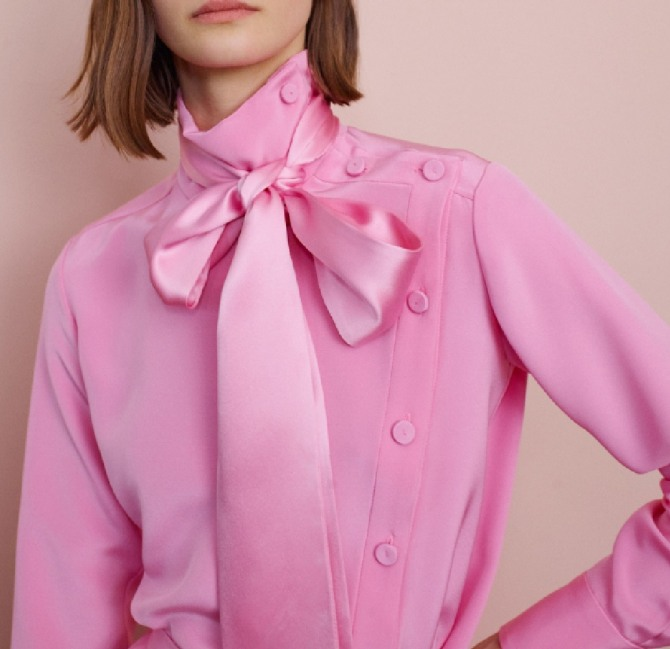 нарядная блузка розового цвета