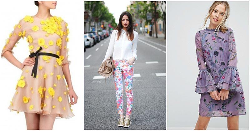 Очаровательные цветочные принты на женской одежде