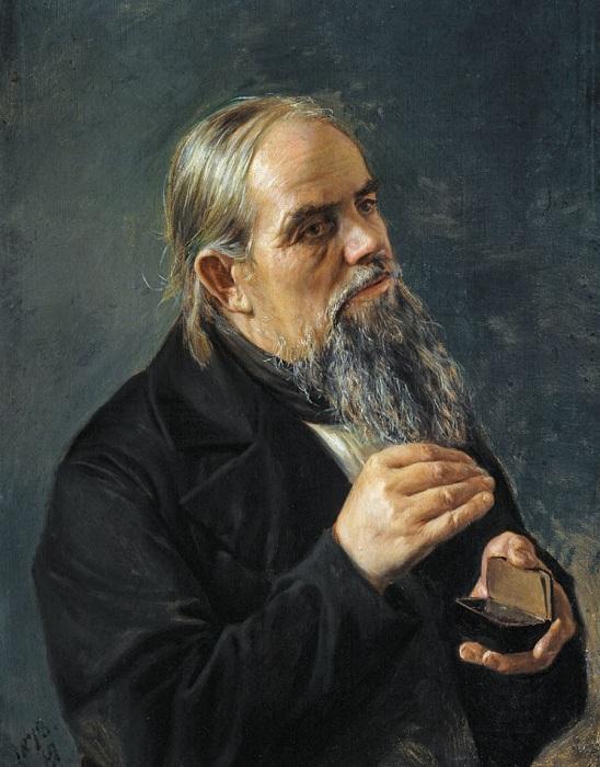 «Старик с табакеркой». Автор: Н. Ярошенко.