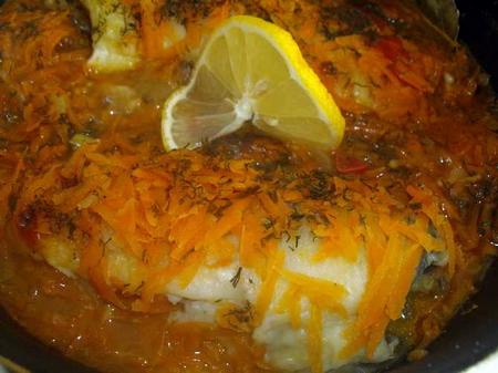 Рыба под овощным маринадом - фото рецепт