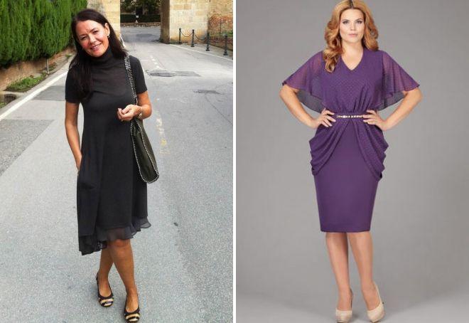 фасоны платьев для женщин 40 лет