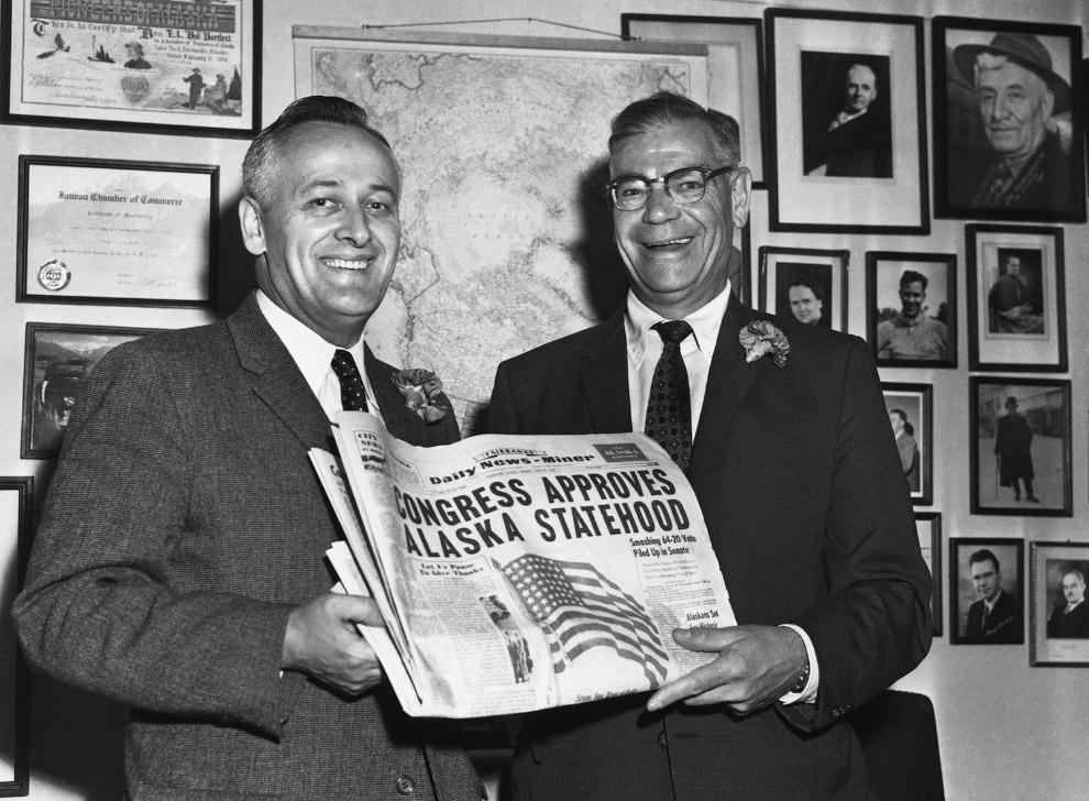 Аляска объявлена новым штатом в 1959 году