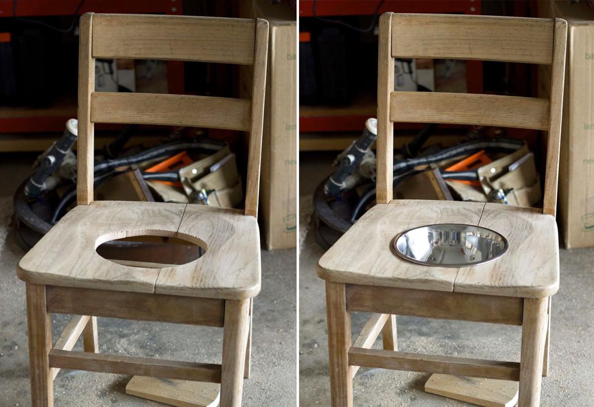 Собачья радость: оригинальный стул-подставка для миски. Мастер-класс для дома и дачи,мастер-класс
