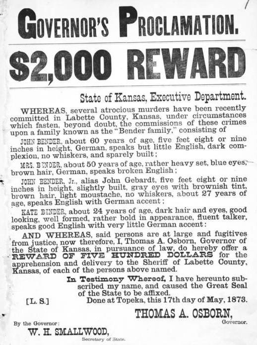 Кровавые Бендеры: семейка «спиритуалистов», которая проламывала головы путникам на Диком Западе интересное,интересные люди,интересные факты,история,ужас,шок