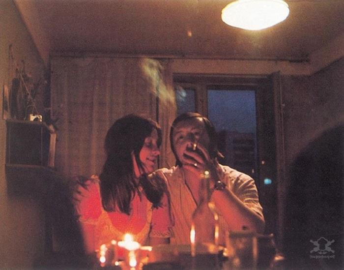 Романтический ужин при свечах.