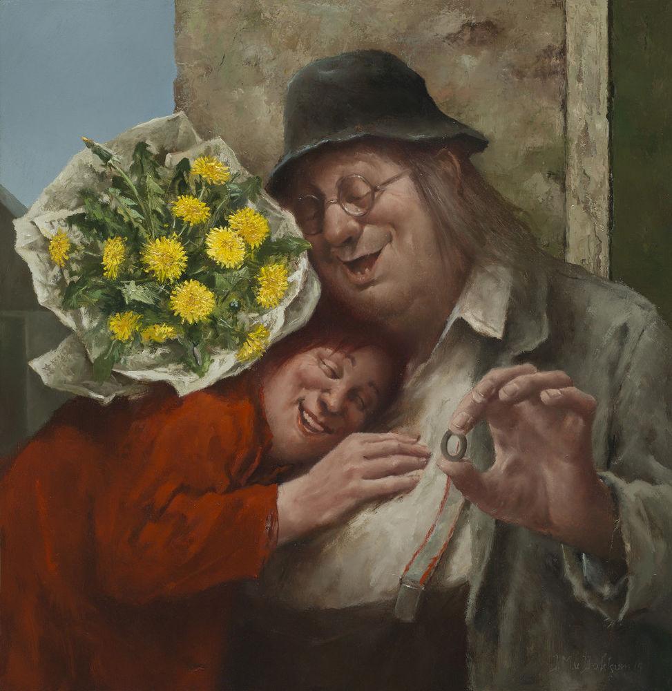 Когда старость в радость: оптимистичные работы голландского художника Marius van Dokkum, фото № 14
