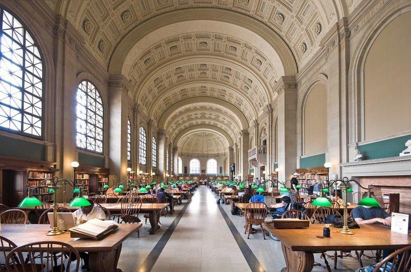 17. Бостонская публичная библиотека, Бостон, США архитектура, библиотека, библиотеки, библиотеки мира, красота, путешествия, фотограф, фотопроект
