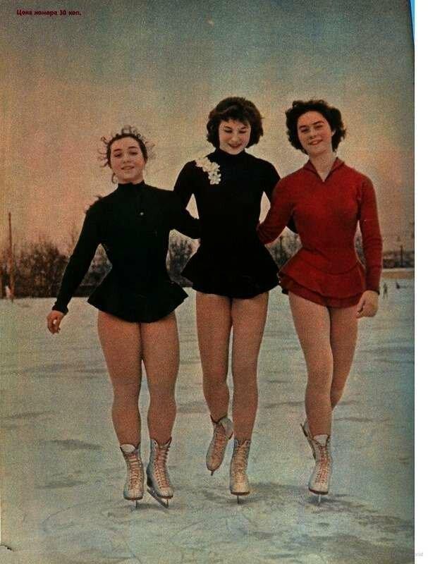 Фигуристки, 1961 год СССР, фото, это интересно