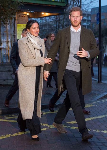 Меган Маркл и принц Гарри посетили ужин в честь будущего ребенка Кэтрин Макфи и Дэвида Фостера Монархи,Британские монархи