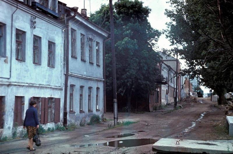 Минск. Троицкое предместье в начале реставрации.1979