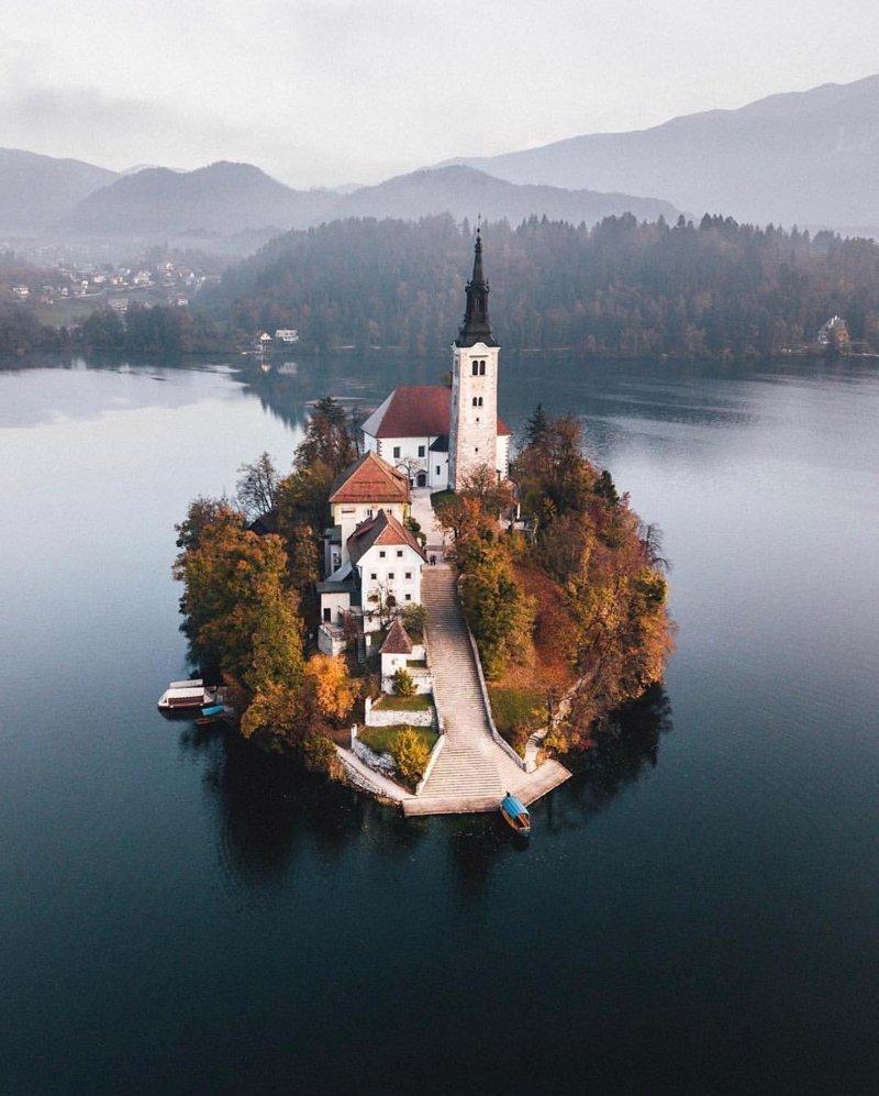 Lake Bled, Slovenia красивые места, мир, планета, природа, путешествия