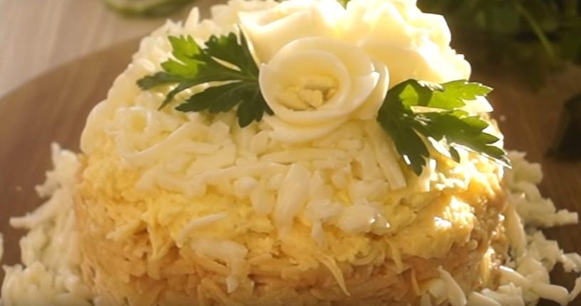 """Салат """"Неженка"""" - вкусный салат к праздничному столу"""