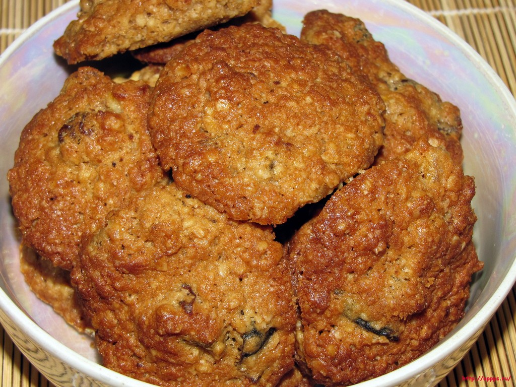 Вкуснейшее овсяное печенье