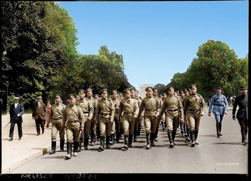 Русский экспедиционный корпус во Франции. 1916 год. Весь Мир в объективе, ретро, старые фото