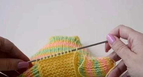 Очень простой способ связать тапочки-следки спицами: мастер-класс вязание,домашний досуг,полезные советы