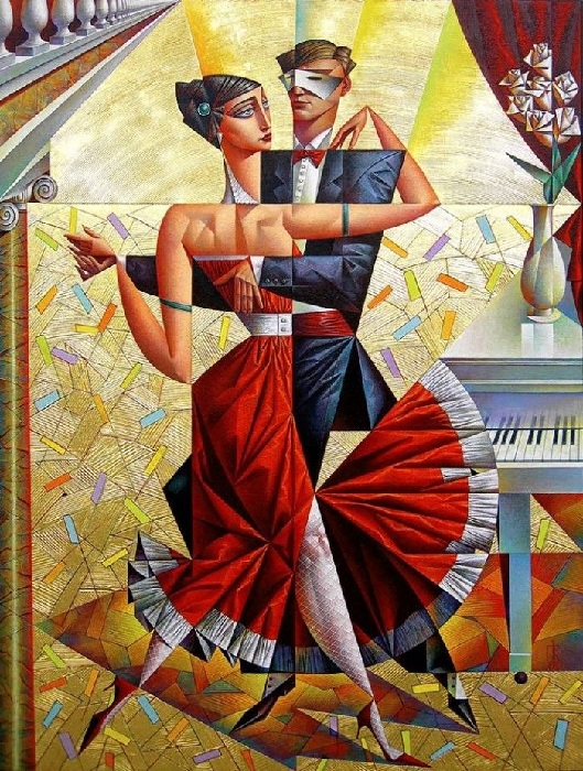 Живописный кубизм русского художника полный соблазна и эмоциональных переживаний живопись