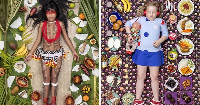 Потрясающие работы фотографа показали недельное меню детей со всего мира