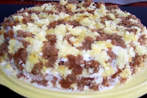 Торт «Лохмач» со сметанным кремом