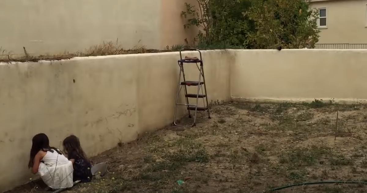 Безработный отец превратил двор в настоящую сказку для детей