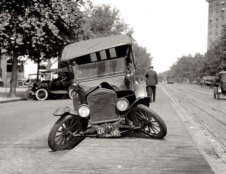 Соединенные Штаты, авто авария в 1920 году Весь Мир в объективе, ретро, старые фото