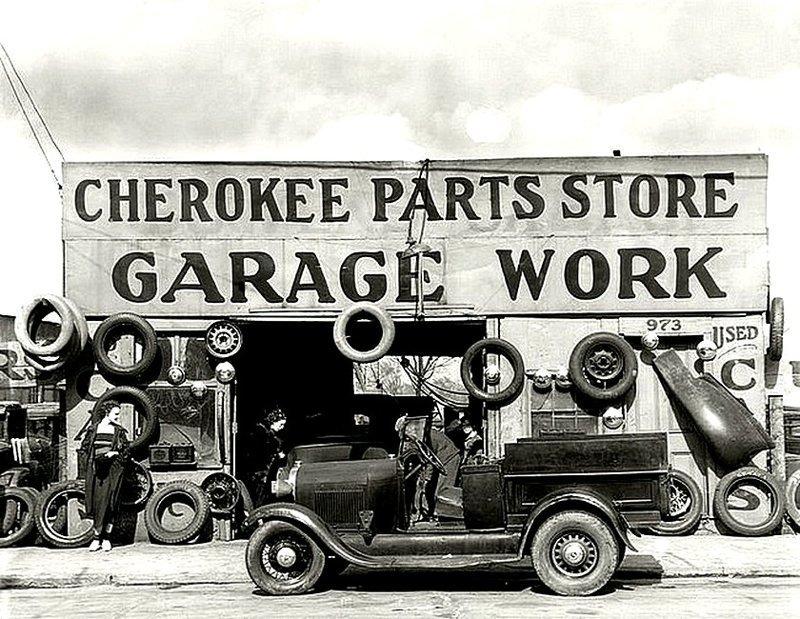Авто гараж в Атланте в 1936 году. Весь Мир в объективе, ретро, старые фото