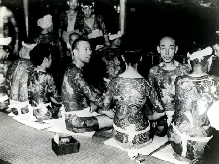 Представители одного из крупнейших кланов якудза.
