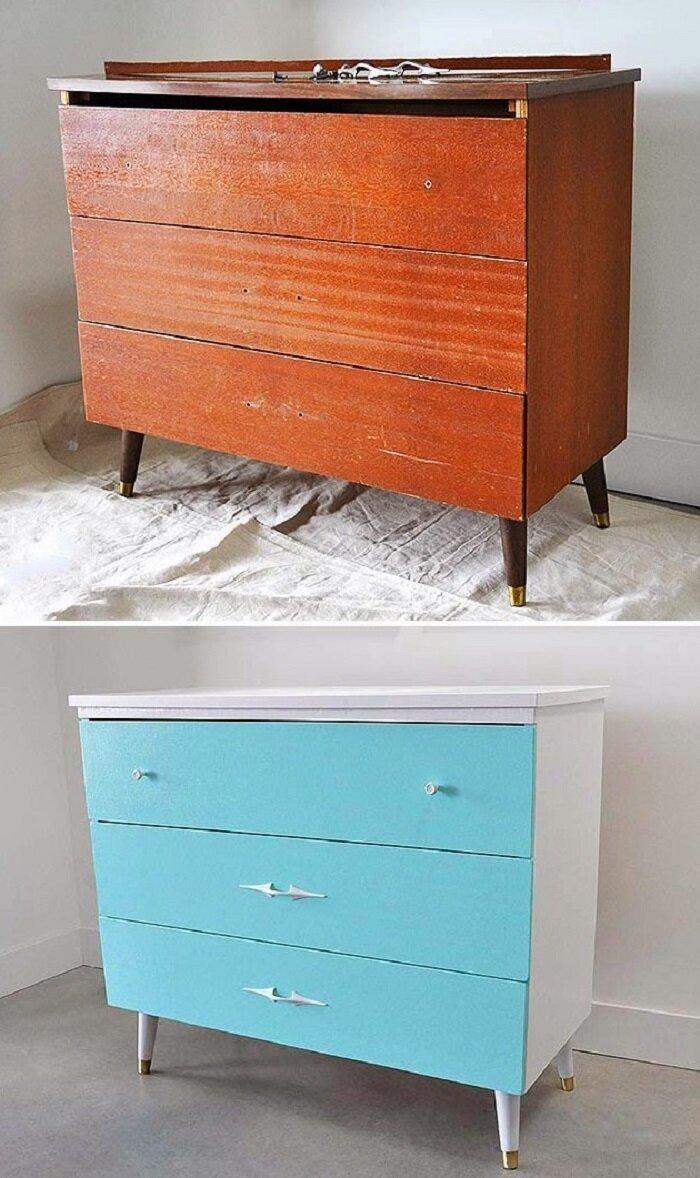 Еще один случай, когда цветовая гамма кардинально изменила вещь! до и после, идея, мебель, ремонт, своими руками, фантазия