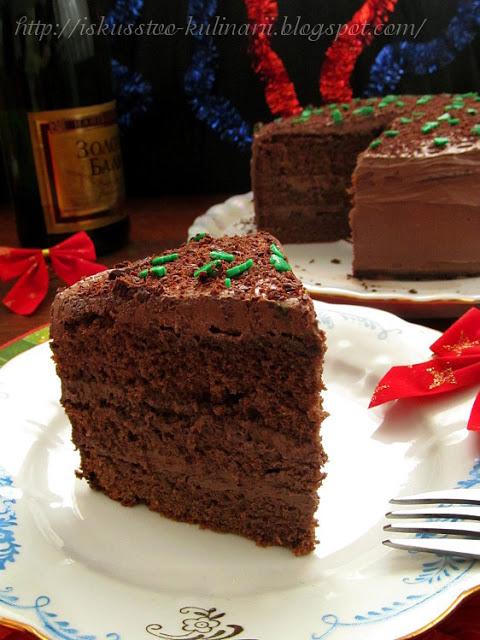 Пряный шоколадный торт