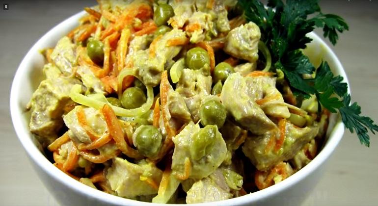 Мясной салат «Купеческий» – пикантный и вкусный
