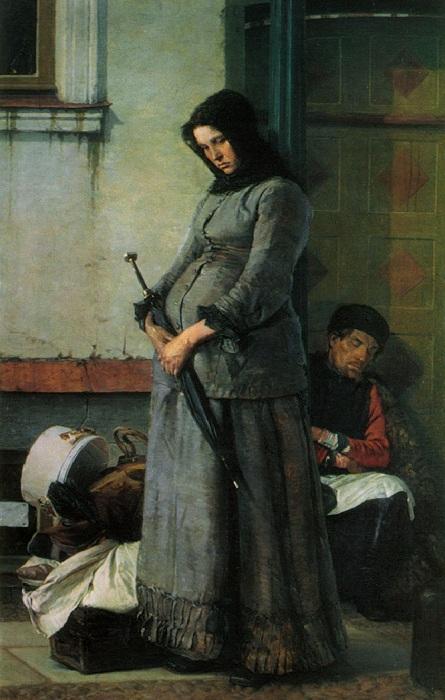 «Выгнали». (1883 год). Автор: Н. Ярошенко.