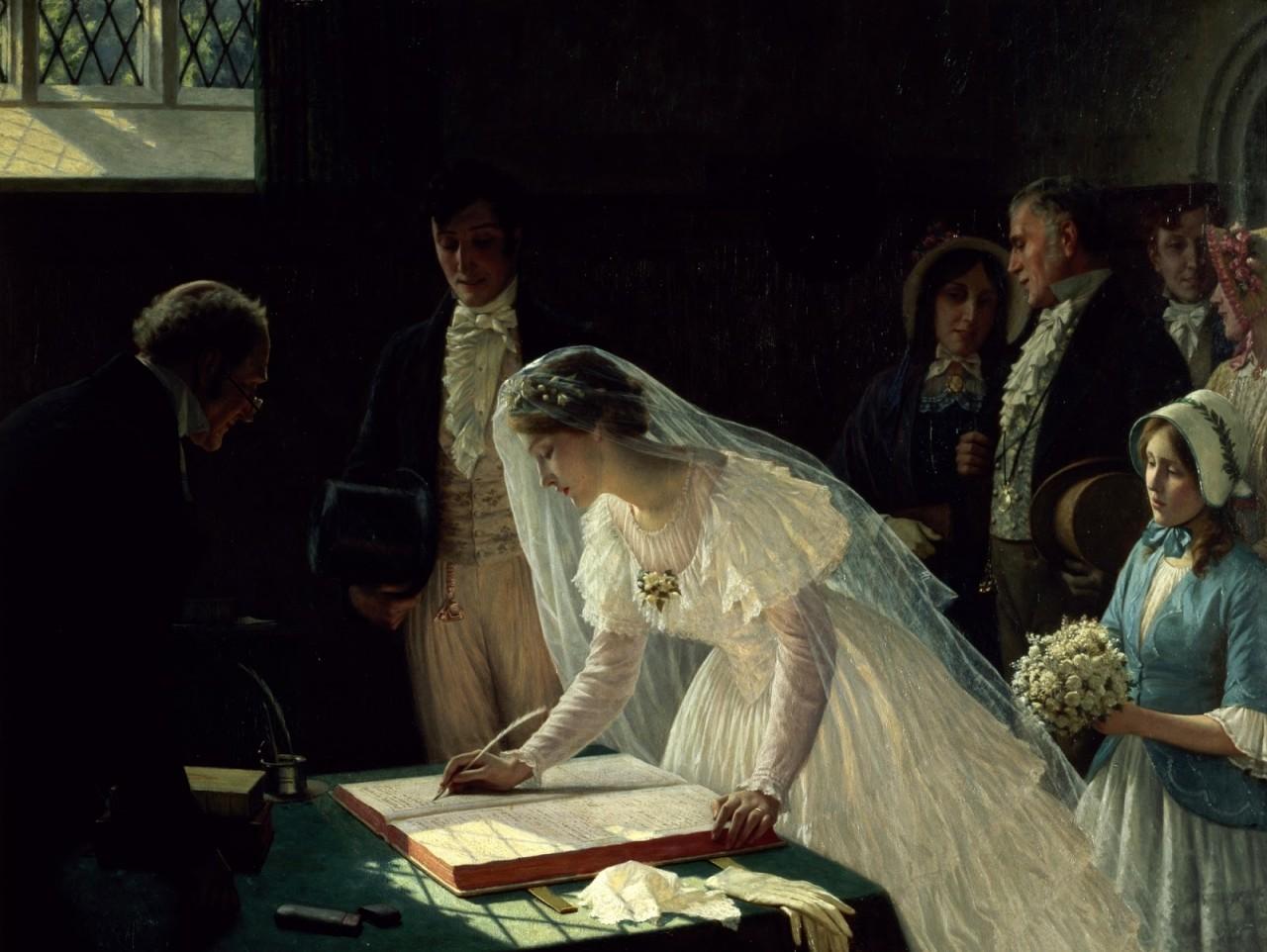 Венчание в картинах художников