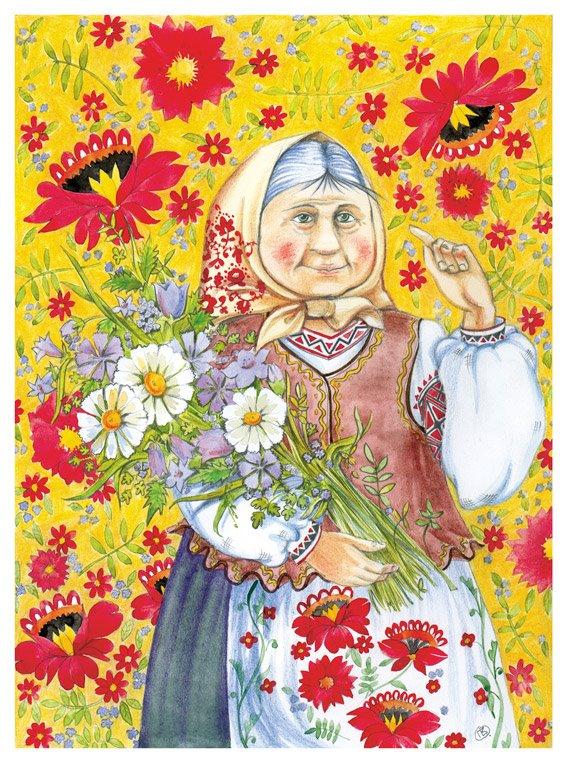 Рисунки, открытки нарисованные бабушки