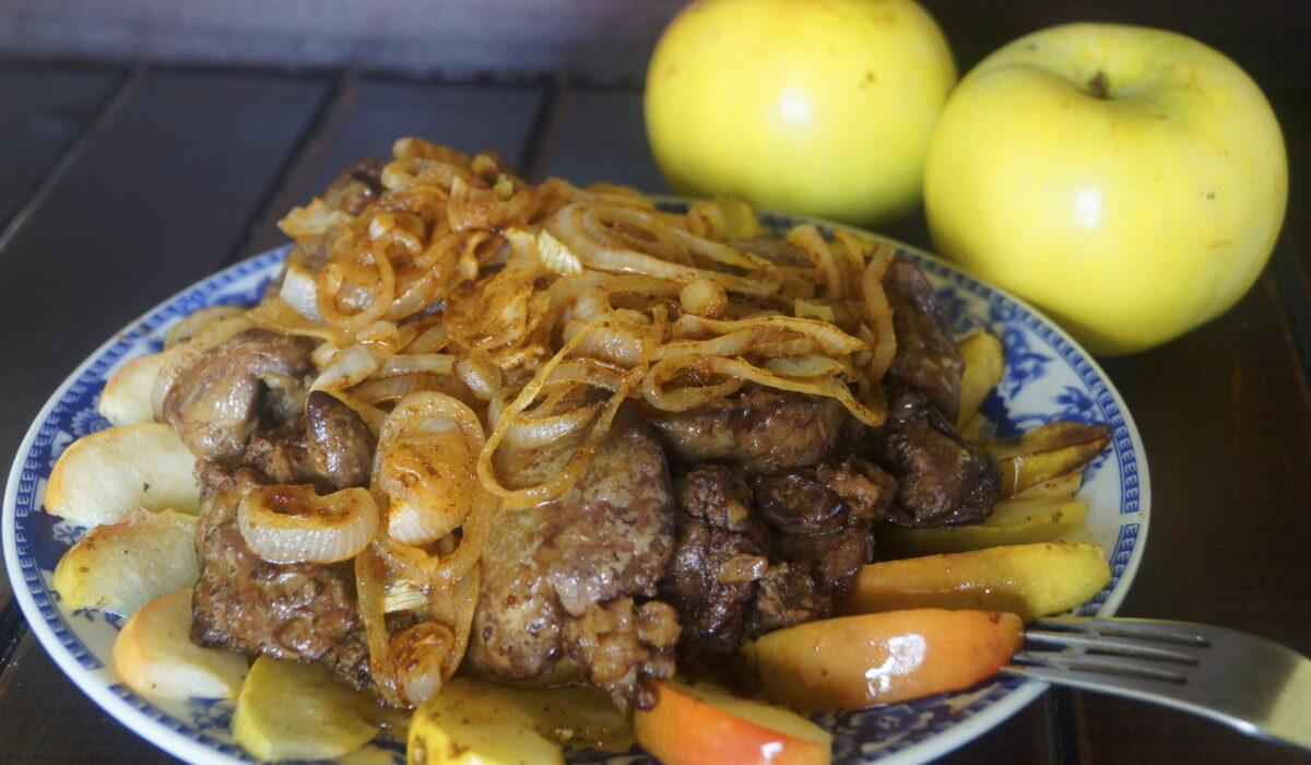 """Рецепт печени """"По-берлински"""" кухни мира,мясные блюда,субпродукты"""