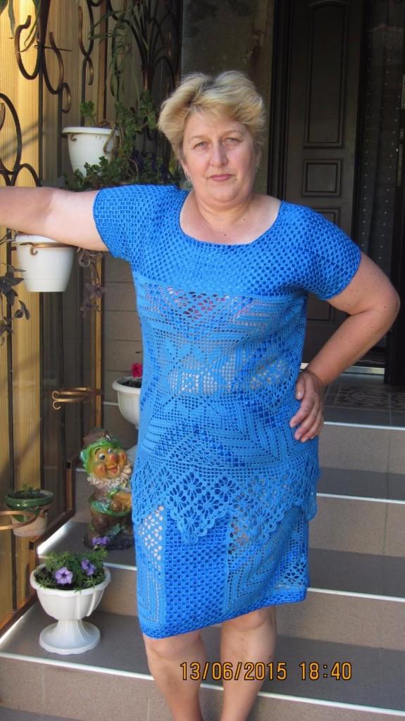 голубой костюм+ленты