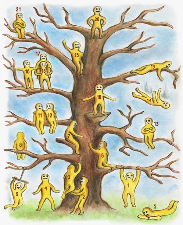 Найди ребенка на картинке с деревом ответ