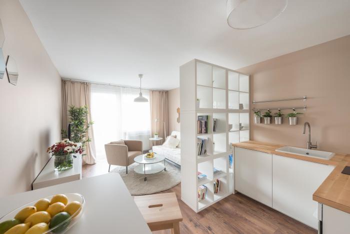 Современные идеи для дизайна однокомнатной квартиры.
