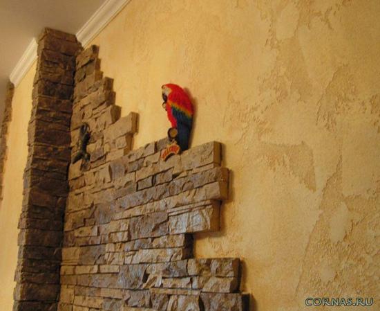 otdelka-sten-kuhni-dekorativnim-kamnem