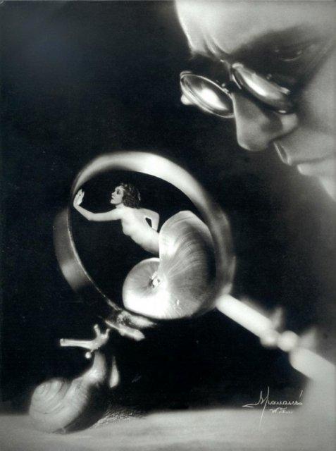 Улитка. Photo Studio Manassé,1933 история, люди, мир, фото