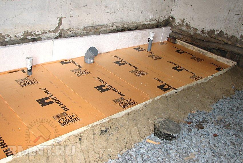можно ли пеноплекс заливать бетоном