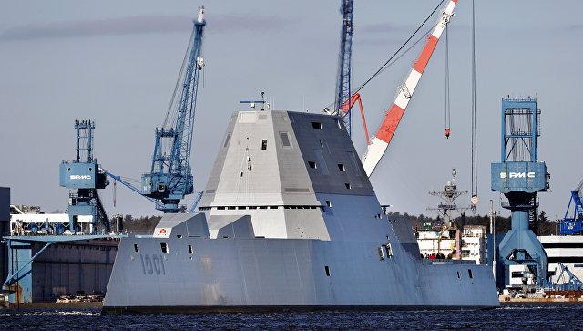 Новейший американский эсминец сломался во время испытаний