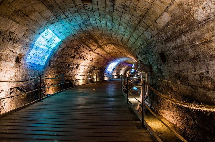 Туннель тамплиеров города Акко