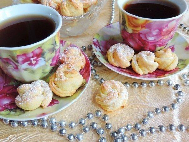 Красивое творожное печенье к чаю