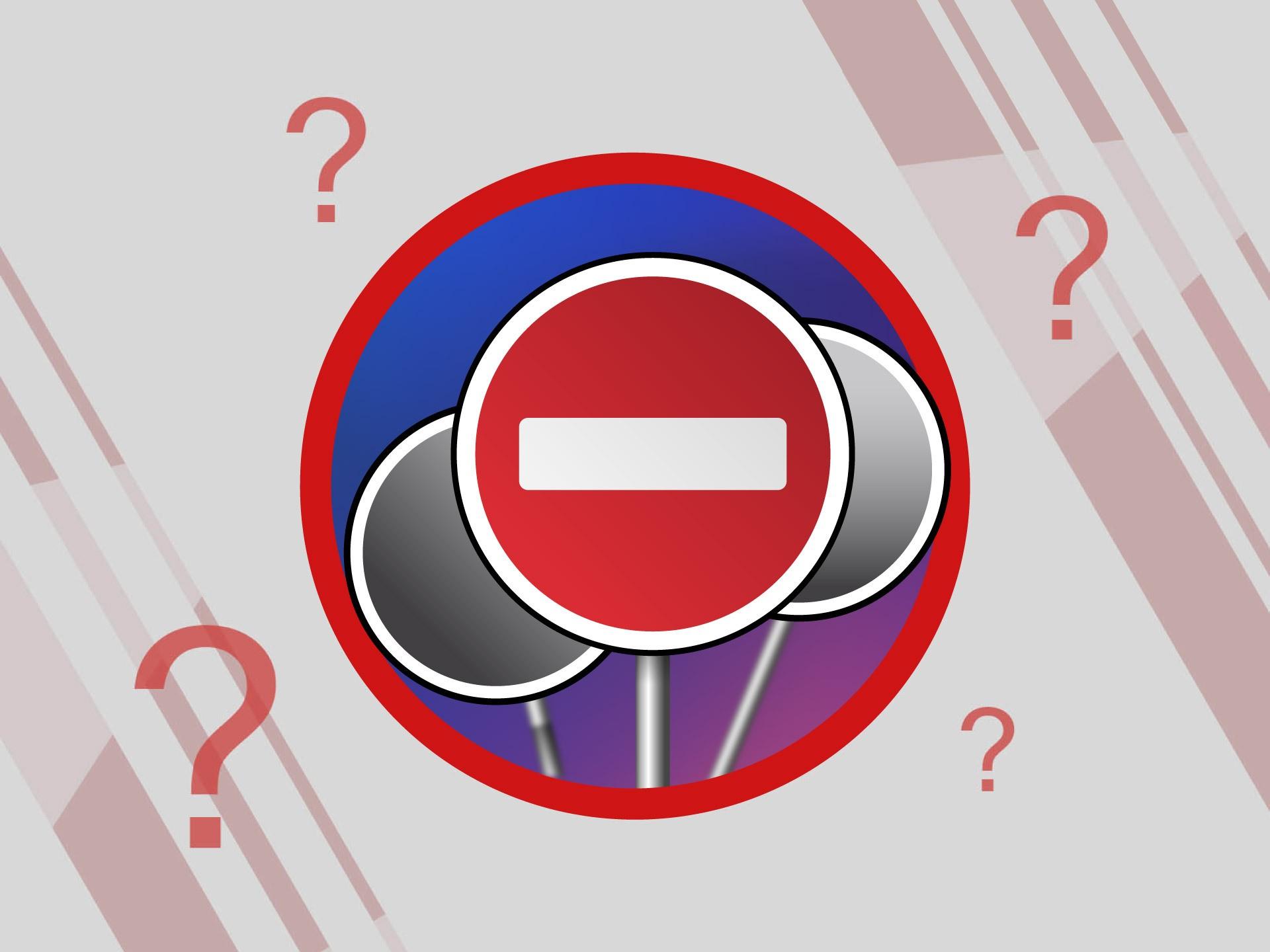 Не только кирпич: под какие знаки запрещено ехать на автомобиле и чем это чревато авто,авто и мото,водителю на заметку,гибдд,дтп,машины,пдд,Россия,советы,штрафы и дтп