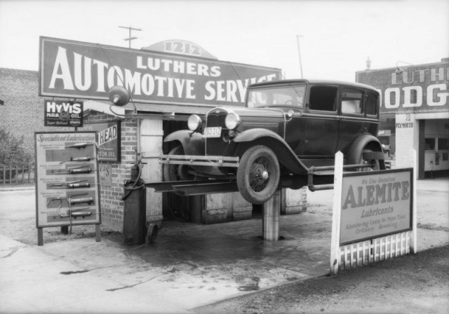 Автосервис. Лос Анджелес, 1932 г. история, люди, мир, фото